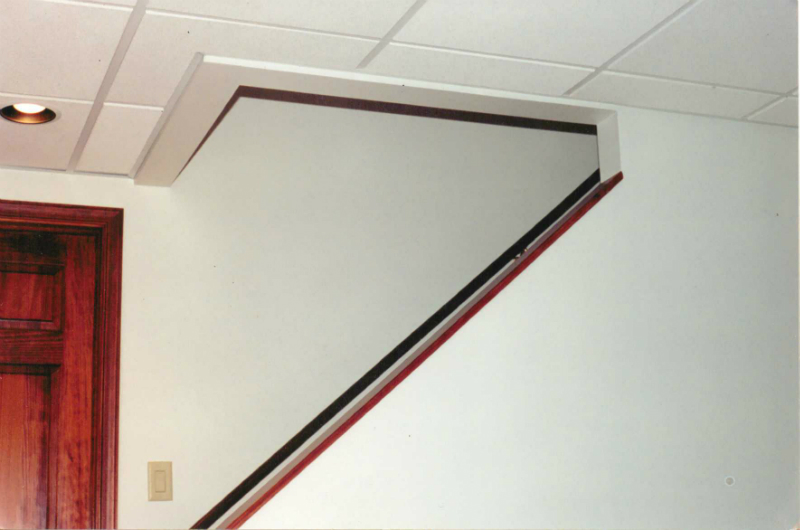 acoustical-ceiling-stairwell-transition