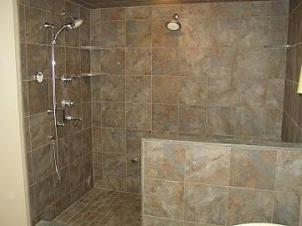 Open shower concept nuroom remodeling home remodeling for Bathroom tile designs 2012